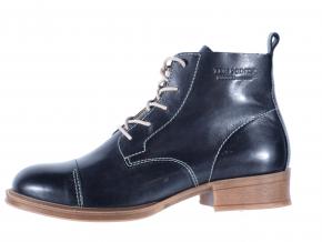 Dámská vycházková kožená šněrovací kotníková obuv značky Ten Points  TP 125001 101 (Velikost 42, barva 101 černá)