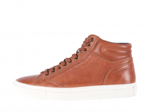 Dámská šněrovací kožená kotníková sneaker značky Ten Points  TP 502011 319 (Velikost 41, barva 319 cognac)