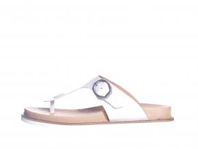 Dámské trendové, volnočasové kožené žabky švédské značky Ten Points TP 345026 901 (Velikost 41, barva 901 bílá)