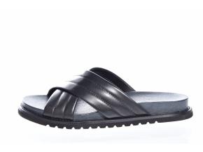 Dámské kožené pantofle švédské značky Ten Points TP 345021 101 (Velikost 41, barva 101 černá)