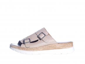 Volnočasové kožené dámské pantofle švédské značky Ten Points TP 515002 202 (Velikost 41, barva 202 sv.šedá)