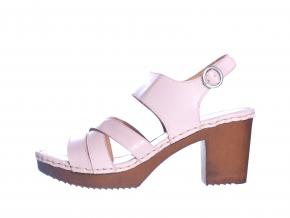 Trendové páskové sandále na podpatku od švédské značky Ten Points TP 515013 880 (Velikost 42, barva 880 sv.růžová)