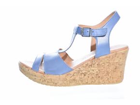 Trendové kožené sandály švédské značky Ten Points TP 475010 714 (Velikost 40, barva 714 modrá)