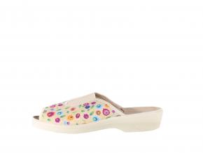 Dámská květovaná pohodlná domácí obuv značky Adanex L 8461-801 (Velikost 42)