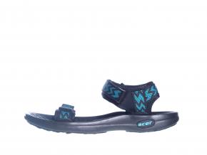 Páskové textilní sandále  L 51/165-021 33 (Velikost 41, barva 33 tyrkys)