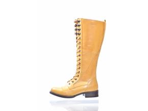 DÁMSKÁ KOŽENÁ ŠNĚROVACÍ KOZAČKA ZNAČKY TEN POINTS  TP 124010 601 (Velikost 42, barva 601 žlutá)