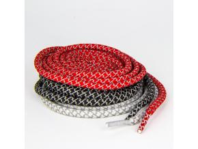 Tkaničky RUCANOR REFLECTIVE LACES 150 cm ČERVENÁ (Velikost unisize, barva červená)