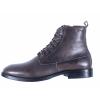 Pánská kožená šněrovací kotníková obuv značky Ten Points  TP 386014 203 (Velikost 45, barva 203 tm. šedá)