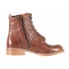 Dámská kožená šněrovací kotníková obuv značky Ten Points  TP 126008 301 (Velikost 41, barva 301 hnědá)