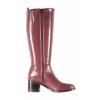 Dámské elegantní kožené a velmi pohodlné kozačky značky Ten Points  TP 472013 811 (Velikost 41, barva 811 fialová)