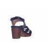 Trendové páskové sandále na podpatku od švédské značky Ten Points TP 515013 101 (Velikost 41, barva 101 černá)