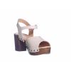 Trendové páskové sandály na podpatku od švédské značky Ten Points TP 345003 202 (Velikost 41, barva 202 sv.šedá)