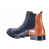 Dámská kožená kotníková obuv značky Ten Points  TP 206001 123 (Velikost 42, barva 123 černá/cognac)