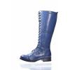 DÁMSKÁ KOŽENÁ ŠNĚROVACÍ KOZAČKA ZNAČKY TEN POINTS  TP 128024 703 (Velikost 42, barva 703 tm. modrá)