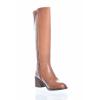 Dámské elegantní kožené a velmi pohodlné kozačky značky Ten Points TP 472013 319 (Velikost 42, barva 319 cognac)