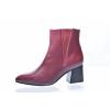 Elegantní dámská kožená kotníková obuv značky Ten Points TP 348005 802 (Velikost 41, barva 802 bordo)