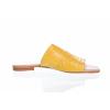 DÁMSKÉ ŘASENÉ KOŽENÉ NAZOUVÁKY ZNAČKY TEN POINTS TP 457013 601 (Velikost 40, barva žlutá)