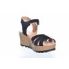 Trendové kožené sandály švédské značky Ten Points TP 477010 101 (Velikost 41, barva 101 černá)