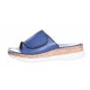 Volnočasové kožené dámské pantofle švédské značky Ten Points TP 517003 703 (Velikost 41, barva 703 tm. modrá)