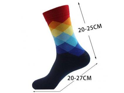 nejlevnejsii panske barevne ponozky red blue squares