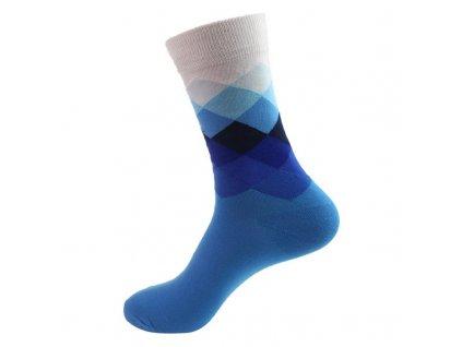nejlevnejsii panske barevne ponozky white blue squares kopie