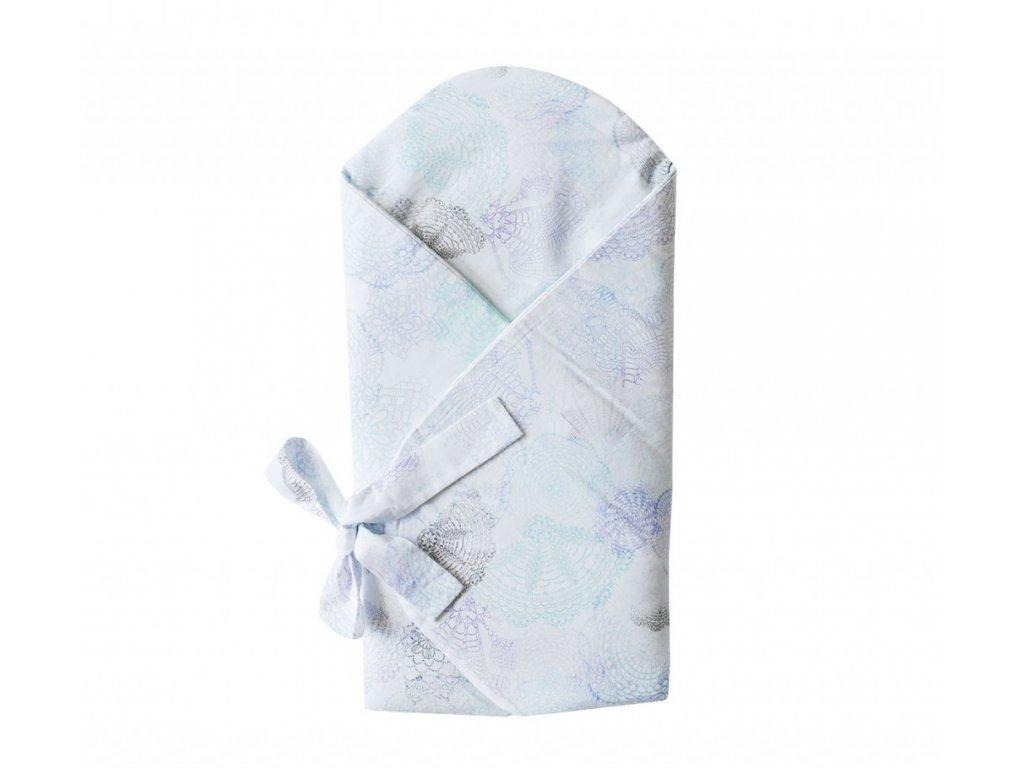 LULLALOVE Zavinovačka BOHO - modro šedá