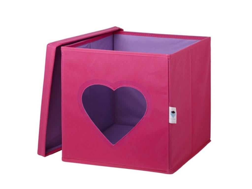 STORE IT Box na hračky s okénkem srdce