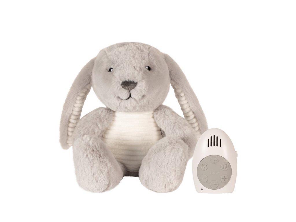FLOW Hračka s tlukotem srdce Milo the Bunny Grey