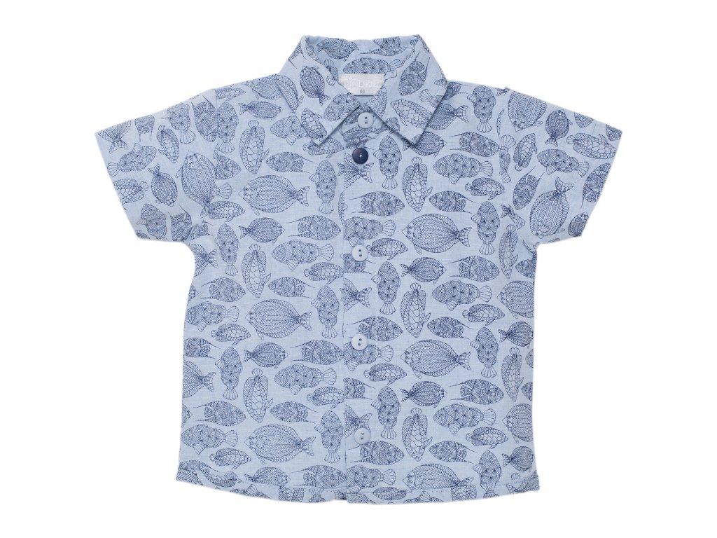 košile kratky rukav modrá