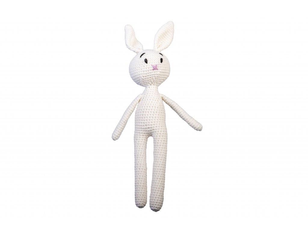 Háčkovaný zajíc bílý