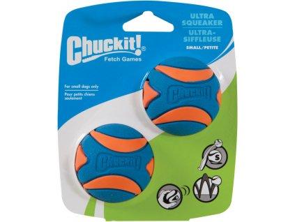 Míček Ultra Squeaker Ball pískací - 2 na kartě