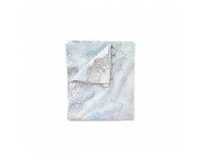 Bavlněné ložní povlečení 135x100 cm BOHO modro šedá