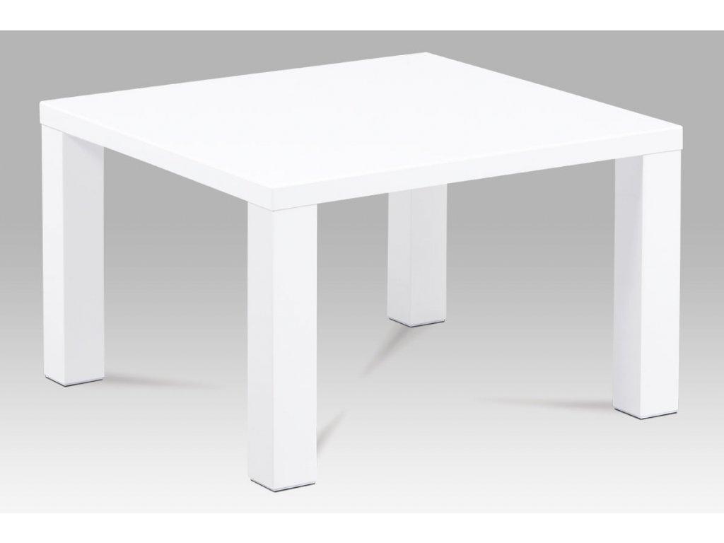 Konferenční stolek 80x80x50, vysoký lesk bílý AHG-501 WT
