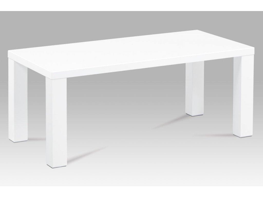 Konferenční stolek 120x60x50, vysoký lesk bílý AHG-502 WT
