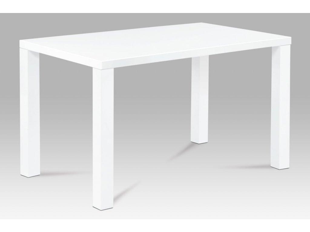 Jídelní stůl 120x80x76 cm, vysoký lesk bílý AT-3006 WT