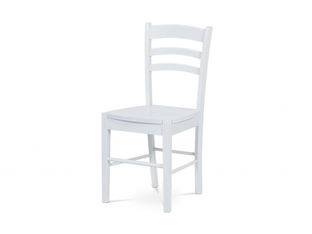 Jídelní židle celodřevěná, bílá AUC-004 WT