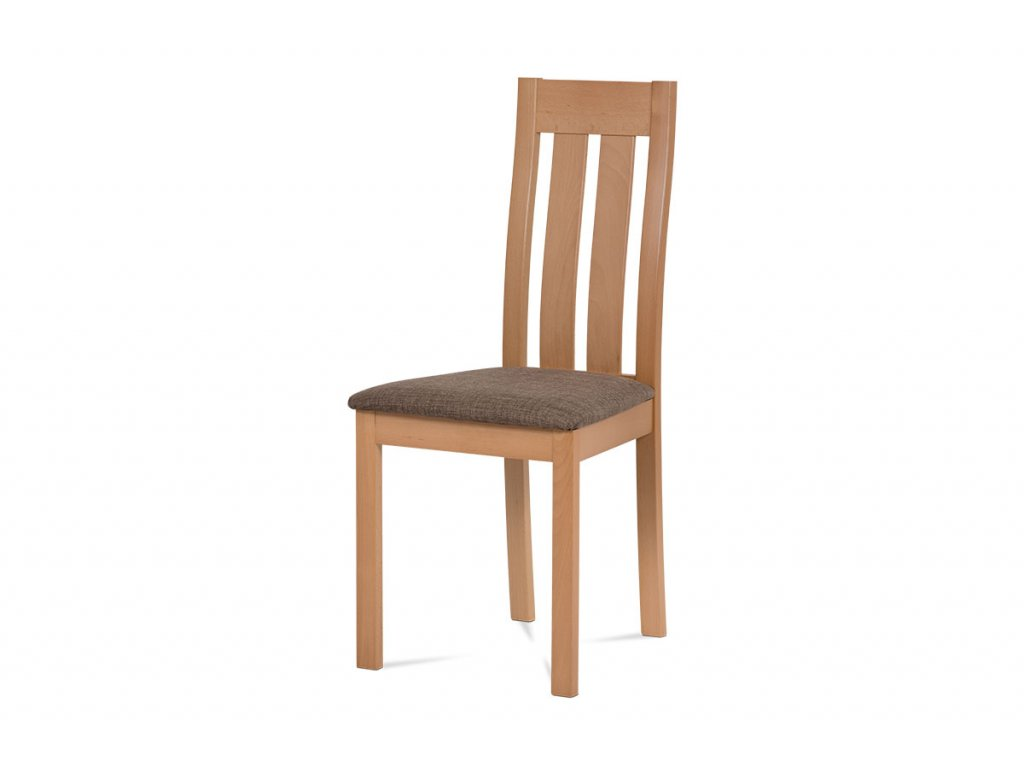 Jídelní židle masiv buk, barva buk, potah hnědý melír BC-2602 BUK3