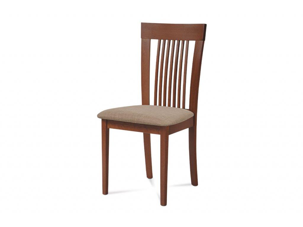 Jídelní židle, barva třešeň, potah krémový BC-3940 TR3