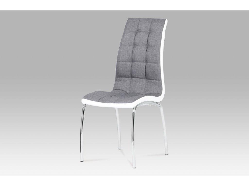 Jídelní židle látka šedá / chrom DCL-420 GREY2