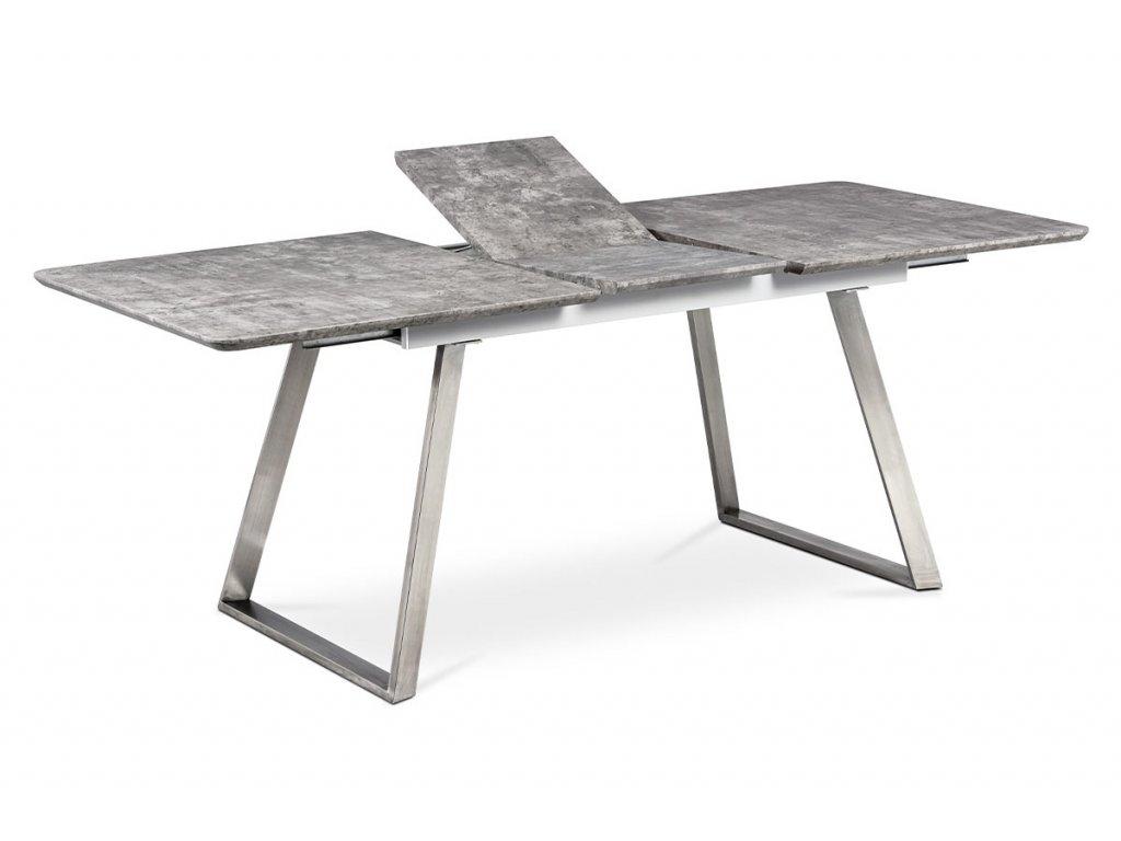 Jídelní stůl 160x90 cm, MDF beton, kov broušený nerez HT-804 BET
