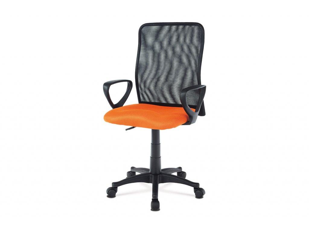 Kancelářská židle, látka MESH oranžová / černá, plyn.píst KA-B047 ORA