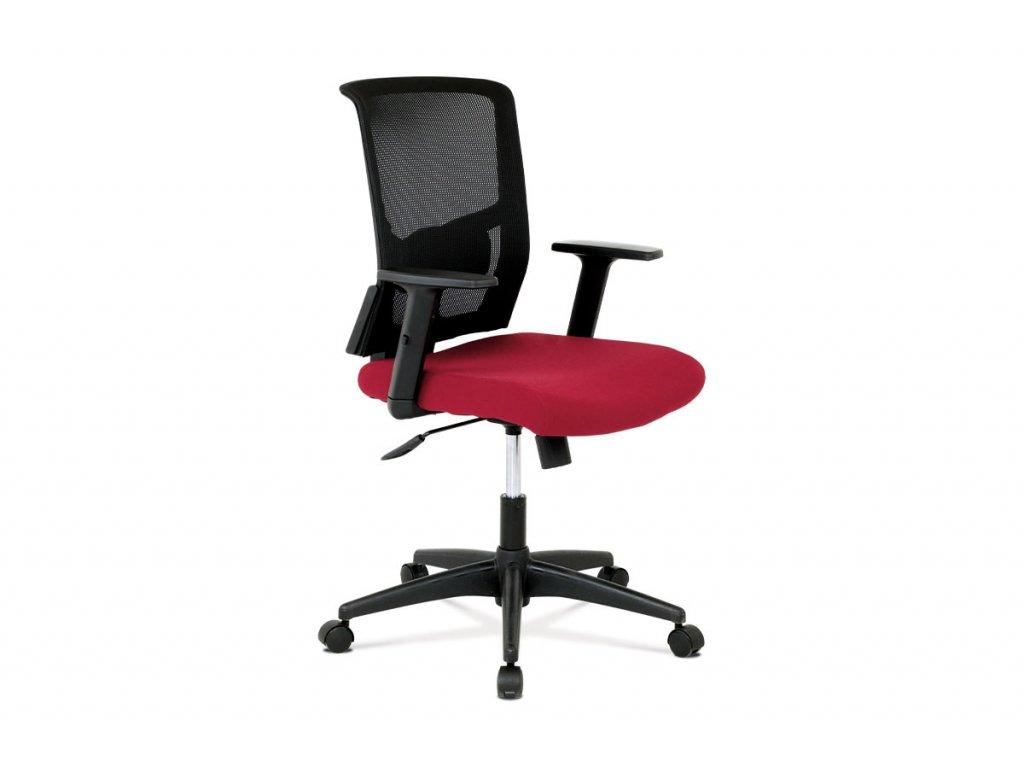 Kancelářská židle, látka vínová + černá, houpací mechnismus KA-B1012 BOR