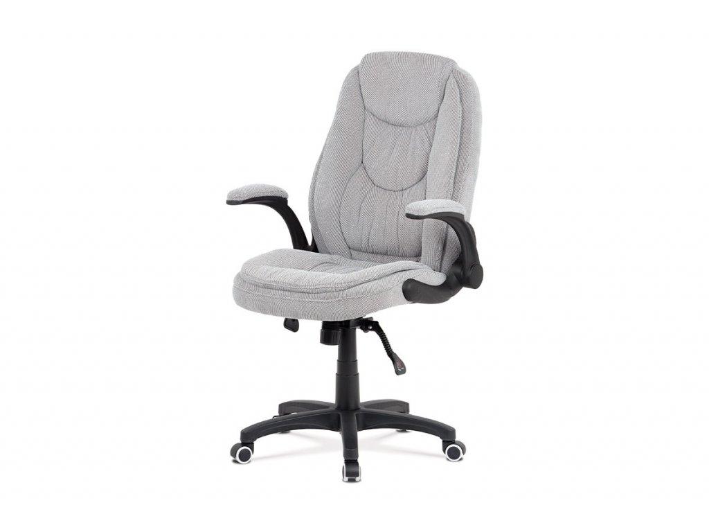 Kancelářská židle, šedá látka, kříž plast černý, synchronní mechanismus KA-G303 SIL2