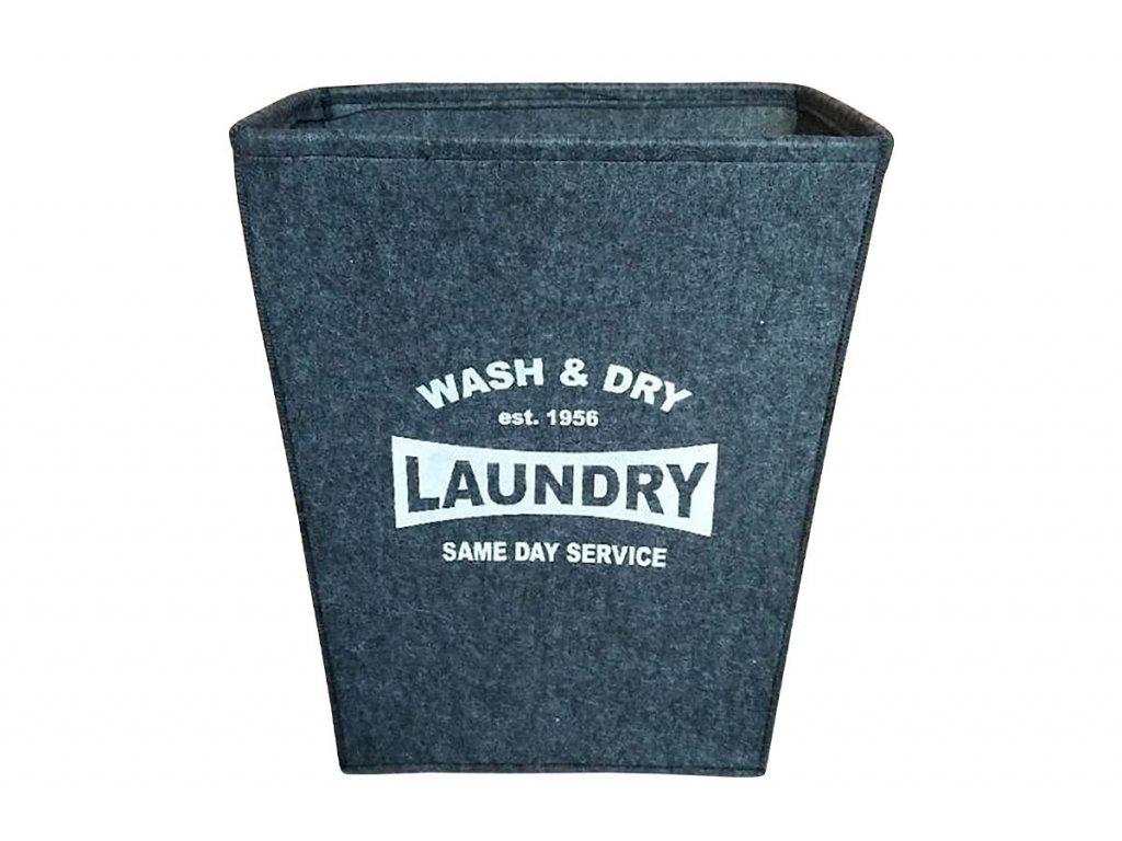 Koš prádelní z plsti, barva tmavě šedá KD4420