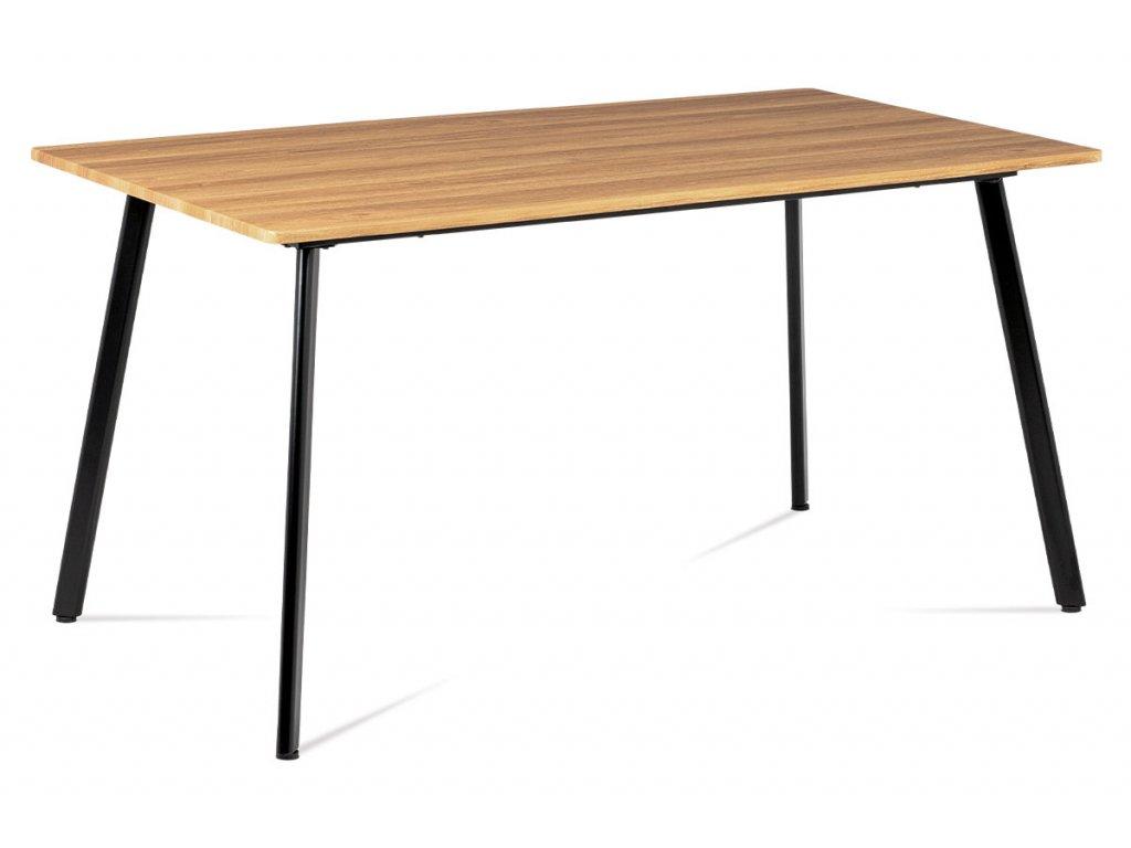 Jídelní stůl 150x80x76, MDF divoký dub, kov matná černá MDT-2100 OAK