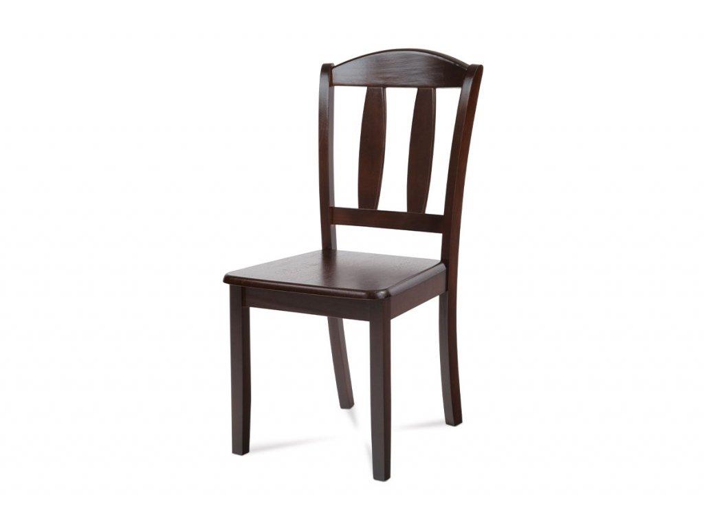 Jídelní židle celodřevěná, barva ořech SAVANA WAL