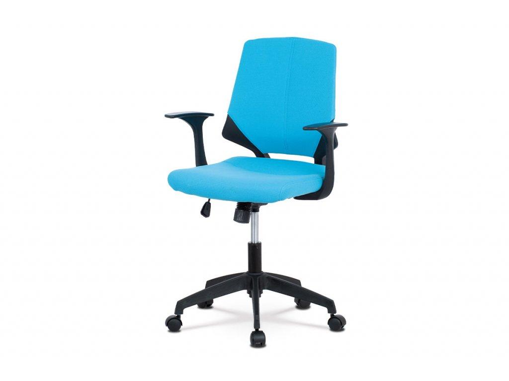 Kancelářská židle, modrá látka KA-R204 BLUE