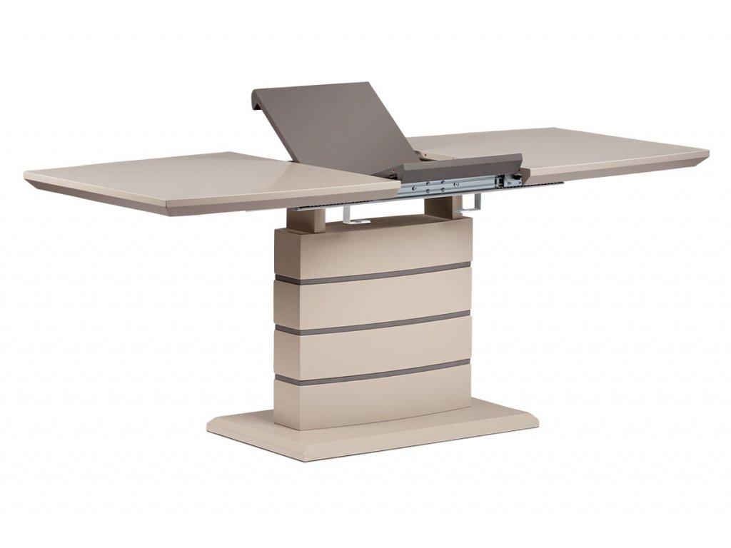 Rozkládací jídelní stůl s centrální podnoží, cappuccino HT-410 CAP