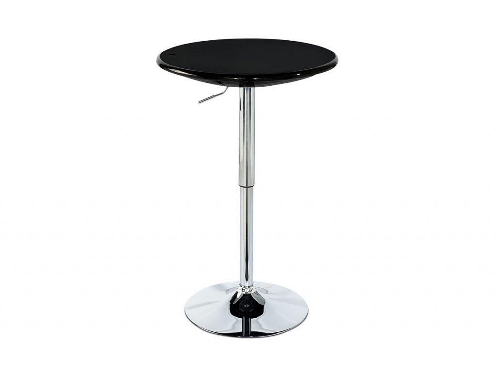 Barový stůl, výškově nastavitelný, černá / chrom AUB-4010 BK