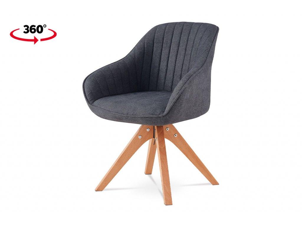 Jídelní židle, látka šedá, nohy masiv buk HC-770 GREY2